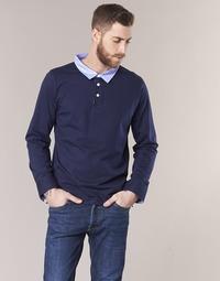 Textil Muži Polo s dlouhými rukávy Casual Attitude IHEYA Tmavě modrá