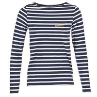 Textil Ženy Trička s dlouhými rukávy Betty London IFLIGEME Tmavě modrá / Bílá
