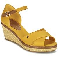 Boty Ženy Sandály Tommy Hilfiger ICONIC ELBA SANDAL BASIC Žlutá