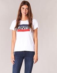 Textil Ženy Trička s krátkým rukávem Levi's THE PERFECT TEE Bílá