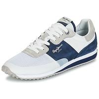 Boty Muži Nízké tenisky Pepe jeans GARRET SAILOR Bílá / Modrá