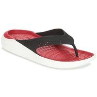 Boty Žabky Crocs LITERIDE FLIP Černá / Červená