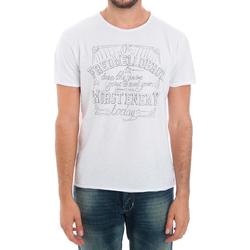 Textil Muži Trička s krátkým rukávem Fred Mello FMCLA99TG_BIANCO Blanco