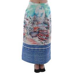 Textil Ženy Sukně Rinascimento 4004/16_CELESTE Estampado