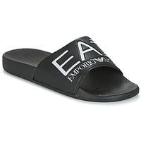 Boty Muži pantofle Emporio Armani EA7 SEA WORLD VISIBILITY M SLIPPER Černá / Bílá