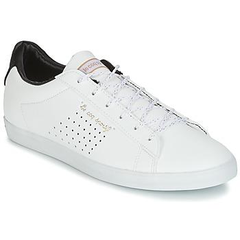 Boty Ženy Nízké tenisky Le Coq Sportif AGATE LO S LEA/SATIN Bílá / Černá