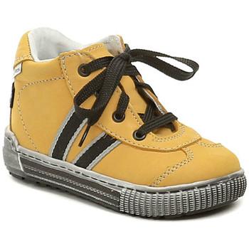 Boty Děti Kotníkové tenisky Pegres 1401 Elite žluté dětské botičky Žlutá
