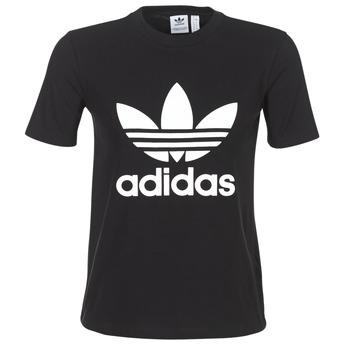 Textil Ženy Trička s krátkým rukávem adidas Originals TREFOIL TEE Černá