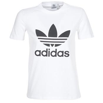 adidas Trička s krátkým rukávem TREFOIL TEE - Bílá