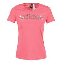 Textil Ženy Trička s krátkým rukávem adidas Performance FOIL LINEAR Růžová