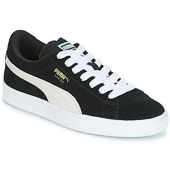 Boty Děti Nízké tenisky Puma SUEDE JR Černá / Bílá