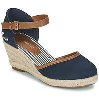 Boty Ženy Sandály Tom Tailor ESKIM Tmavě modrá
