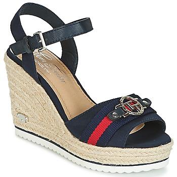 Boty Ženy Sandály Tom Tailor CRYSTYA Tmavě modrá