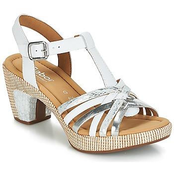 Boty Ženy Sandály Gabor MASTIAR Bílá / Stříbřitá