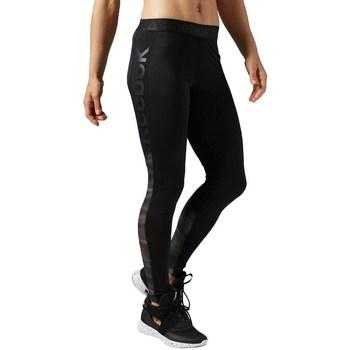 Textil Ženy Legíny Reebok Sport Workout Show Mesh Logo Černé