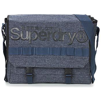 Taška Kabelky přes rameno Superdry MERCHANT MESSENGER BAG Tmavě modrá