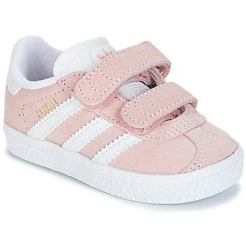 Boty Dívčí Nízké tenisky adidas Originals GAZELLE CF I Růžová