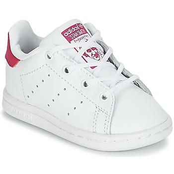 Boty Dívčí Nízké tenisky adidas Originals STAN SMITH I Bílá / Růžová