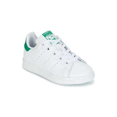 Boty Děti Nízké tenisky adidas Originals STAN SMITH C Bílá / Zelená