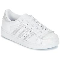 Boty Dívčí Nízké tenisky adidas Originals STAN SMITH C Bílá / Stříbrná
