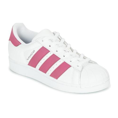 adidas Originals SUPERSTAR J Bílá   Růžová - Doručení zdarma se ... 87002448d8