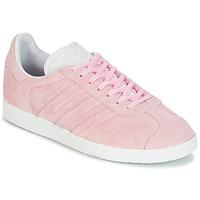 Boty Ženy Nízké tenisky adidas Originals GAZELLE STITCH Růžová