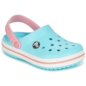 Boty Děti Pantofle Crocs Crocband Clog Kids Modrá / Růžová