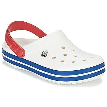 Boty Pantofle Crocs CROCBAND Bílá / Modrá / Červená