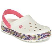 Boty Ženy Pantofle Crocs CROCBAND GALLERY CLOG Bílá / Růžová