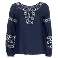 Textil Ženy Halenky / Blůzy Deeluxe BERTHA Tmavě modrá