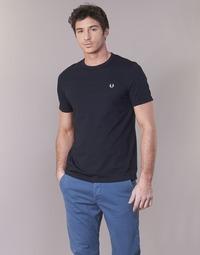 Textil Muži Trička s krátkým rukávem Fred Perry RINGER T-SHIRT Tmavě modrá