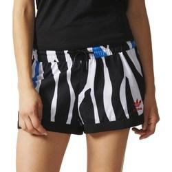 Textil Ženy Kraťasy / Bermudy adidas Originals Zebra Bílé, Černé