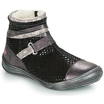 Boty Dívčí Kotníkové boty GBB ROCHELLE Černá / Stříbrná