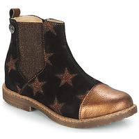 Boty Dívčí Kotníkové boty GBB LEONTINA Černá / Bronzová