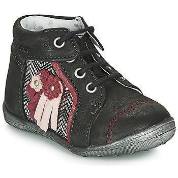 Boty Dívčí Kotníkové boty Catimini RAINETTE Černá / Stříbrná