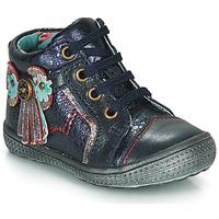 Boty Dívčí Kotníkové boty Catimini RHUBARBE Tmavě modrá
