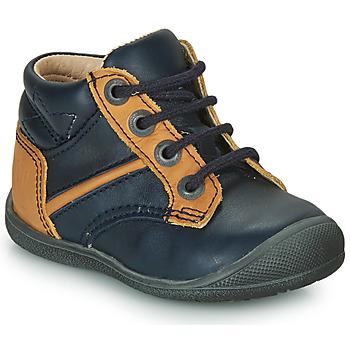 Boty Chlapecké Kotníkové boty Catimini RATON Tmavě modrá / Okrová