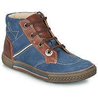 Boty Chlapecké Kotníkové boty Catimini RUMEX Modrá - zlatohnědá