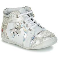 Boty Dívčí Kotníkové boty GBB SONIA Bílá / Stříbrná
