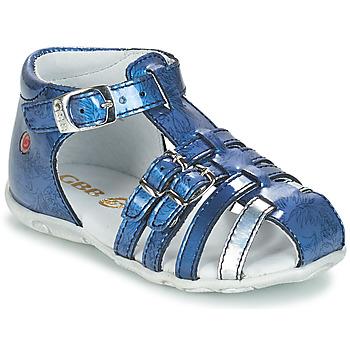 Boty Dívčí Sandály GBB SAMIRA Modrá - potisk