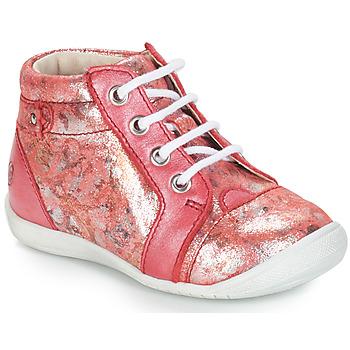 Boty Dívčí Kotníkové boty GBB SIDONIE Korálový potisk