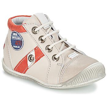 Boty Chlapecké Kotníkové boty GBB SILVIO Béžová / Červená