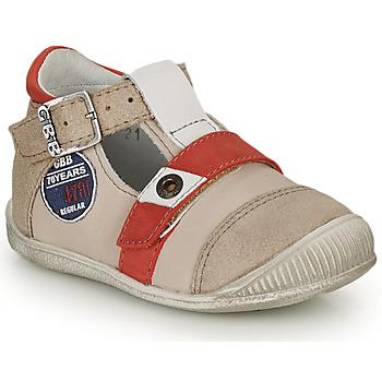 Boty Chlapecké Sandály GBB STANISLAS Béžová / Červená