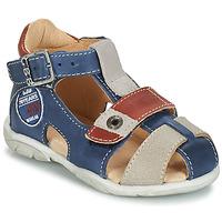 Boty Chlapecké Sandály GBB SULLIVAN Modrá / Béžová / Hnědá