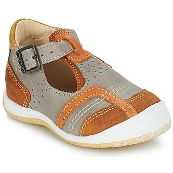 Boty Chlapecké Sandály GBB SIGMUND Tmavě šedá - zlatohnědá