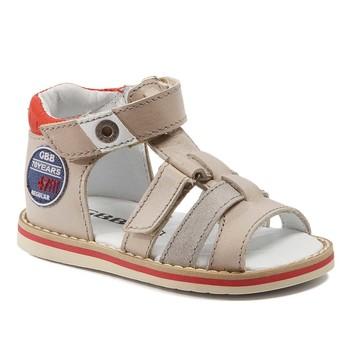 Boty Chlapecké Sandály GBB STEFAN Béžová-červená