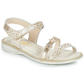 Boty Dívčí Sandály GBB SWAN Bílá / Zlatá