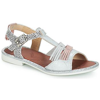 Boty Dívčí Sandály GBB MARIA Stříbrná        / Bílá