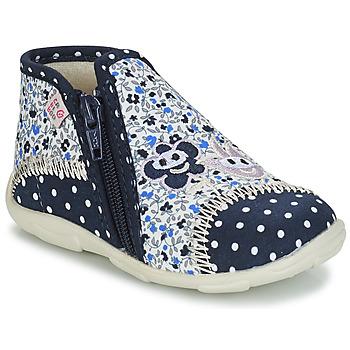 Boty Dívčí Papuče GBB PILI Modrá / Bílá