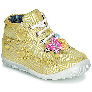 Boty Dívčí Kotníkové boty Catimini SALAMANDRE žluto-stříbrná